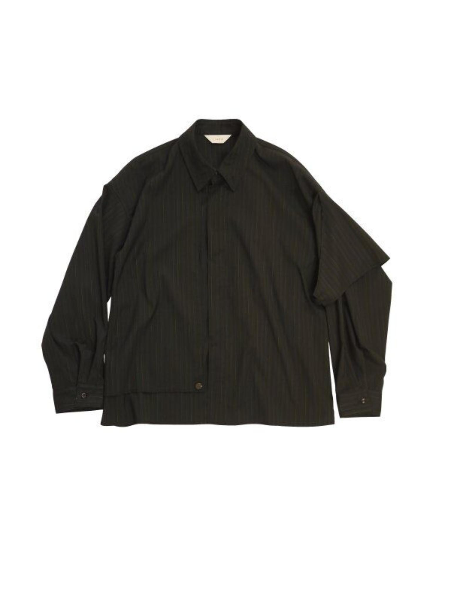【JieDa】《21SS》シルクストライプトレンチシャツ Jie-21S-SH10