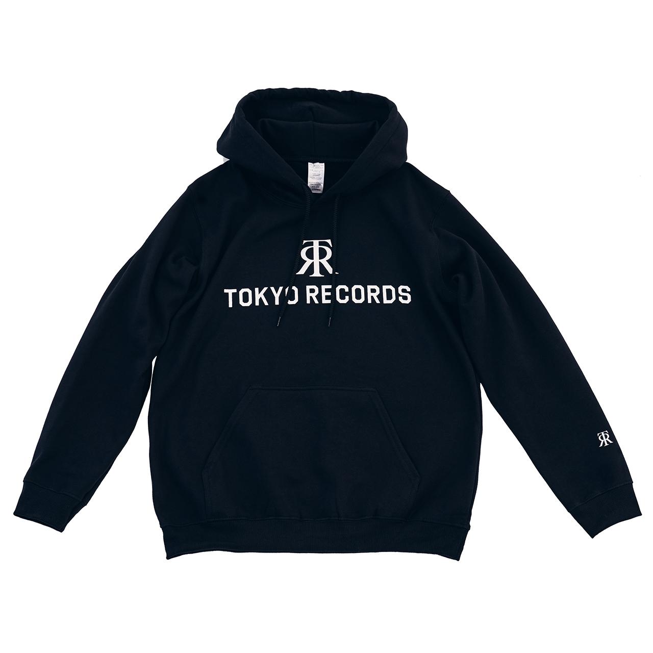 TOKYO RECORDS LOGO HOODIE(BLK × WHT)