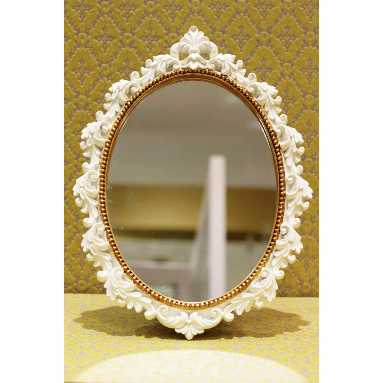 アンティークホワイト/壁掛鏡/スタンドミラー 浜松雑貨屋 C0pernicus