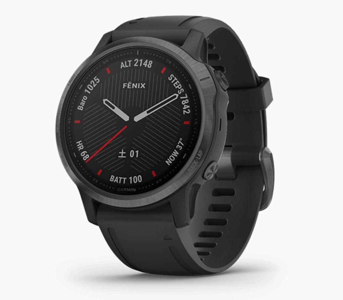 GARMIN ガーミン GPSウォッチ fēnix 6S Sapphire Black DLC 商品番号 010-02159-7D