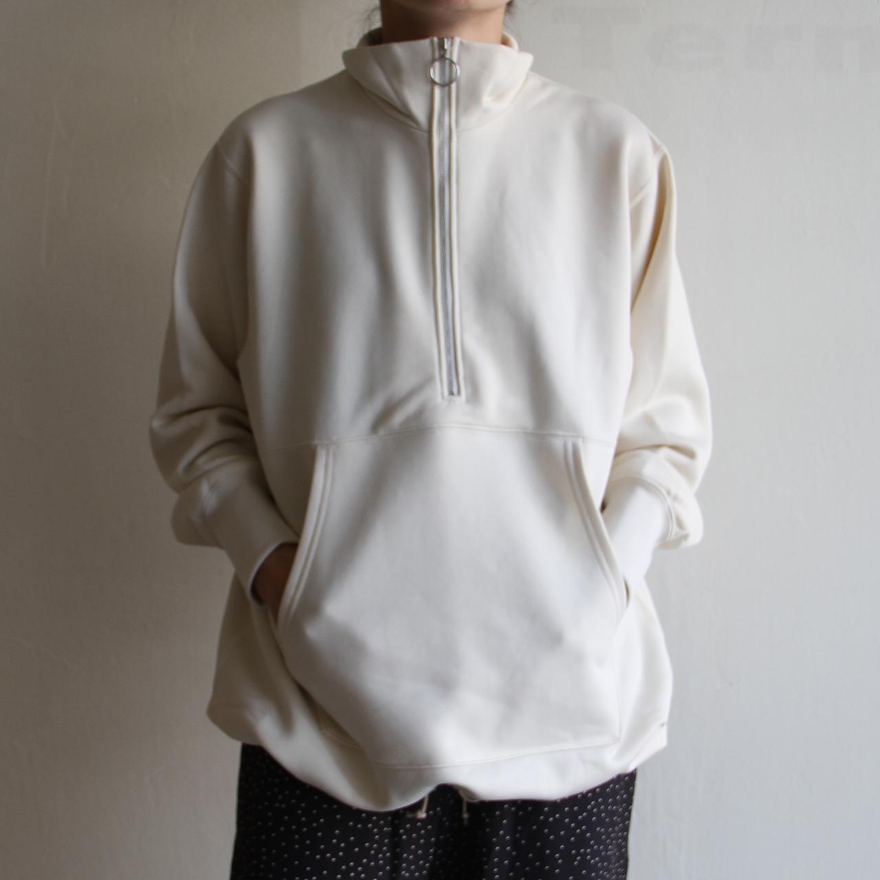 PHEENY【womens 】nylon sweat half zip P/O