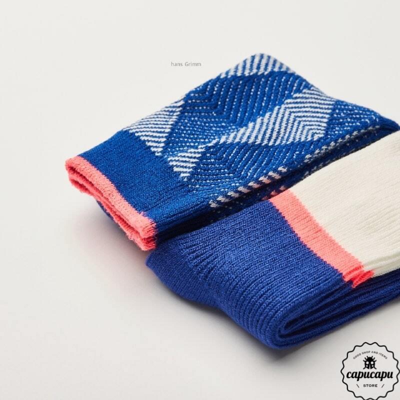 «予約» Jacquard socks 2set  ジャガード ソックス 靴下