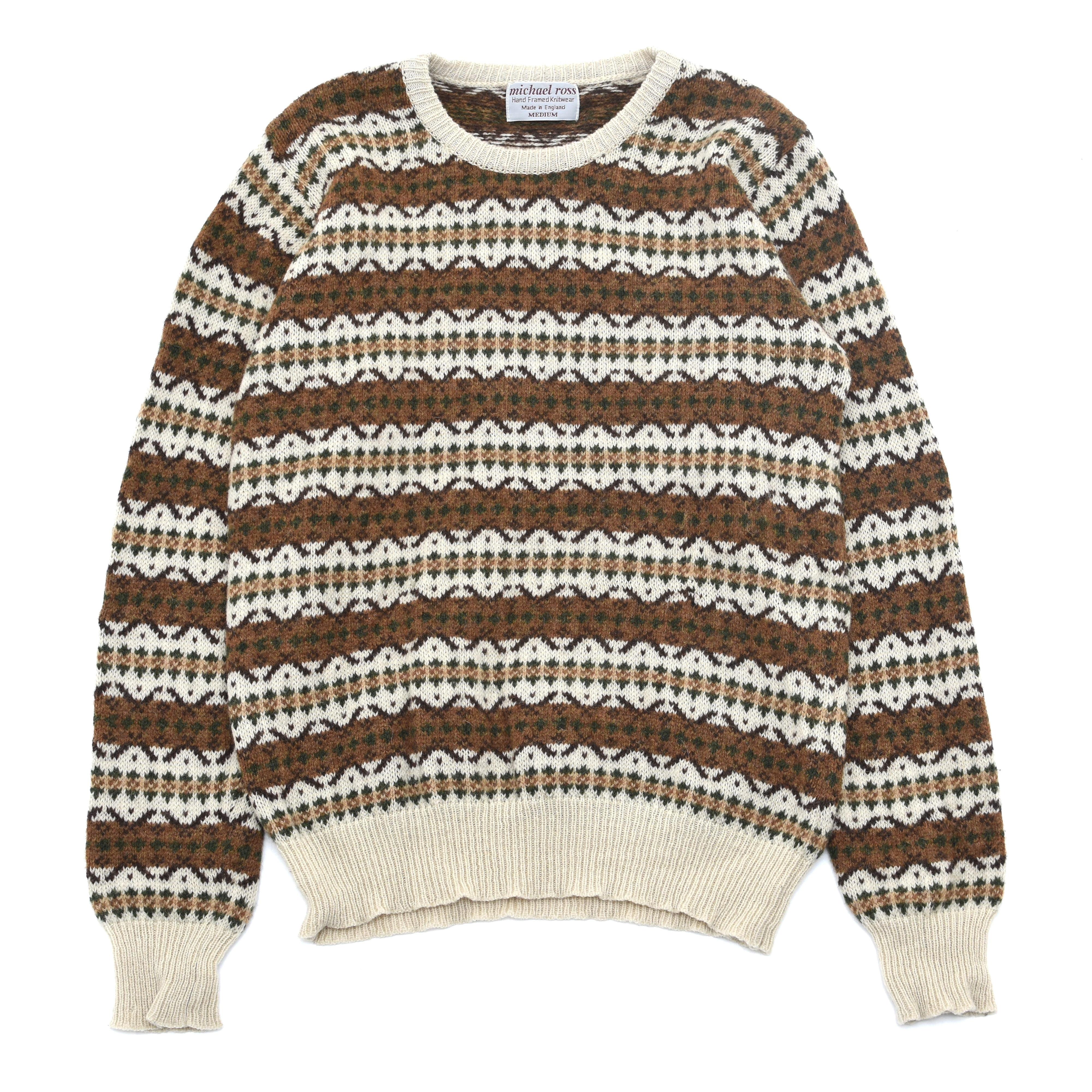 Made in ENGLAND michael ross fair isle knit