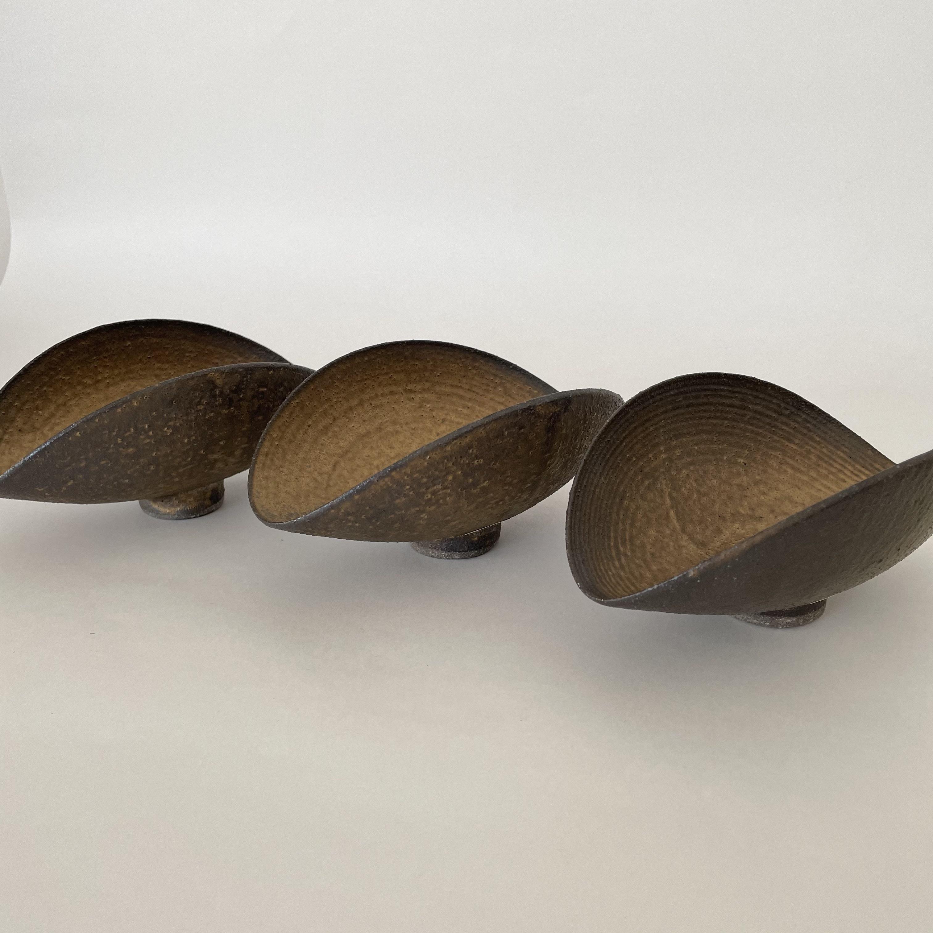水野幸一   銅彩釉  豆ひずみ鉢