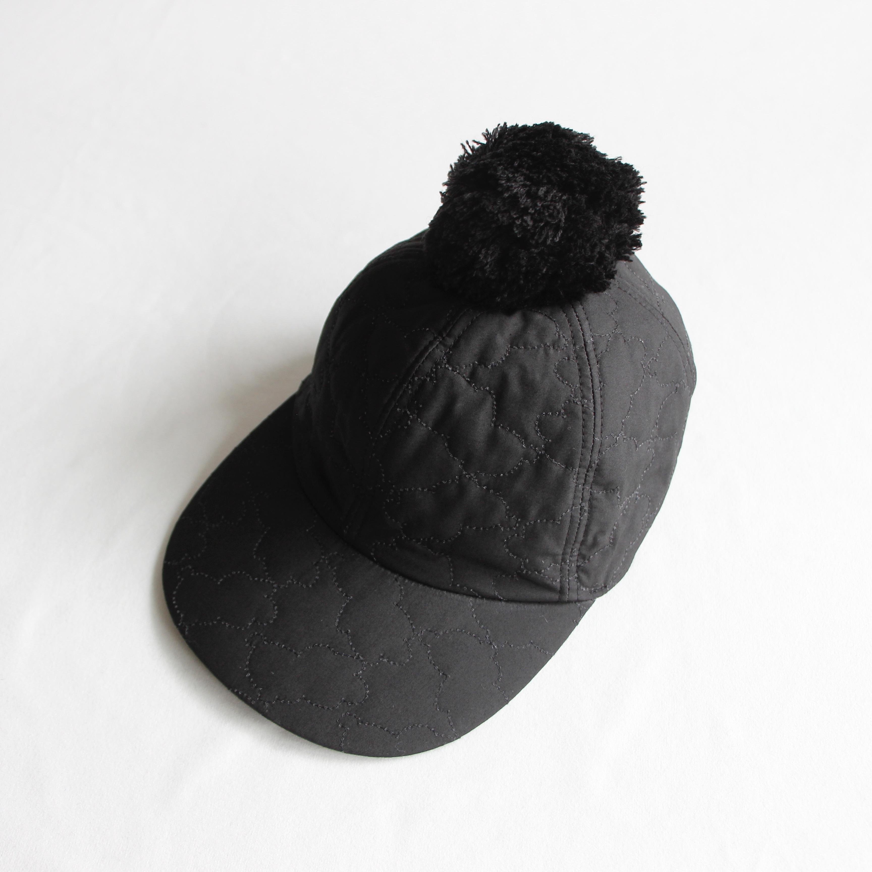 《frankygrow 2020AW》BEAR QUILTING CAP +BONBON / black