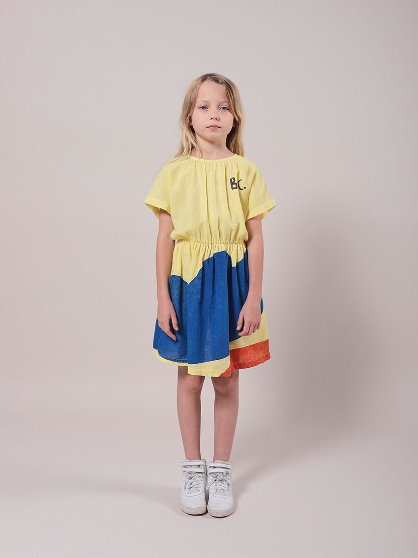 BOBO CHOSES ボボショセス Landscape Woven Dress size:2-3Y(95-100)~10-11Y(140-150)