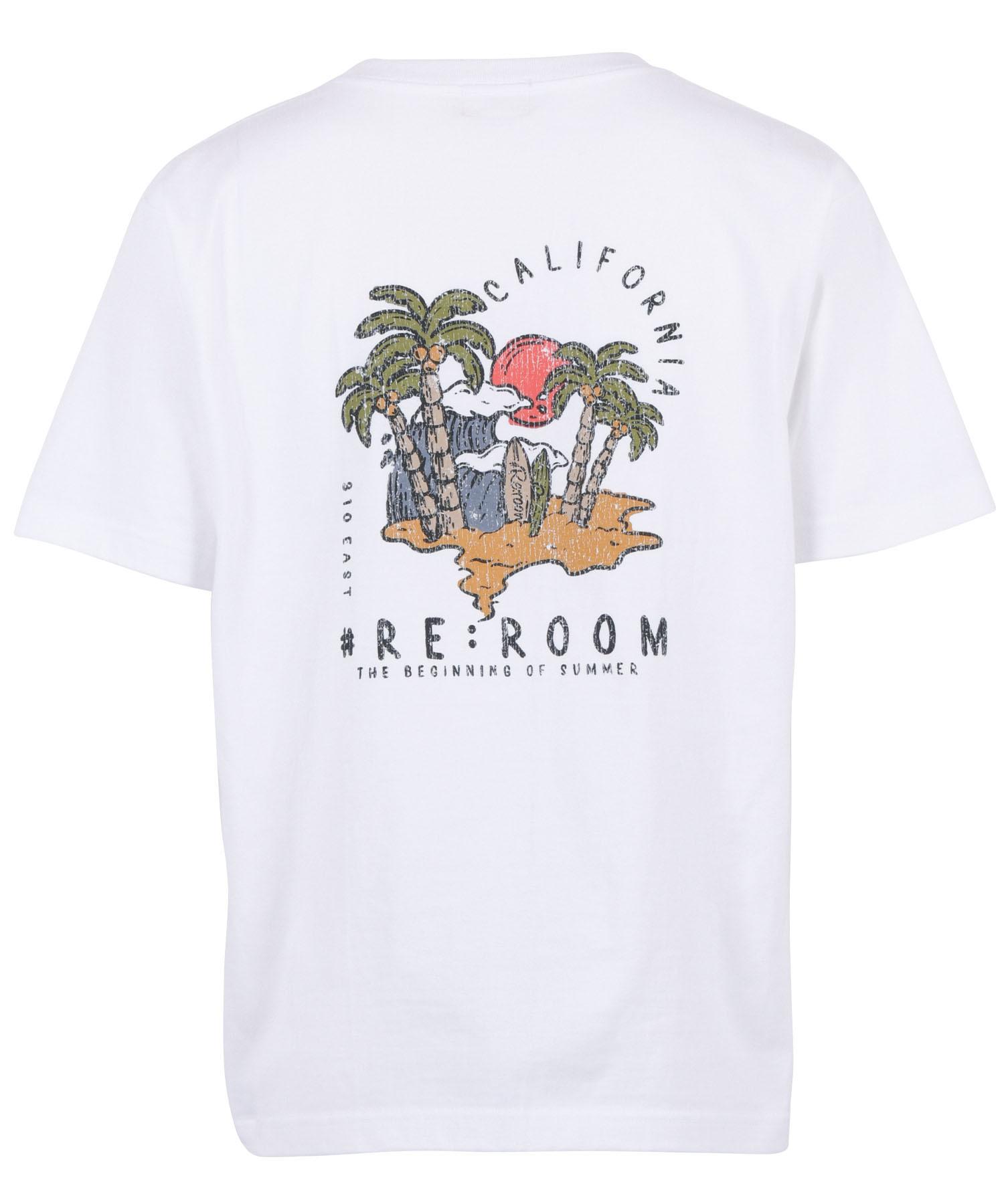 HAND DRAWN SUMMER PRINT T-shirt [REC463]