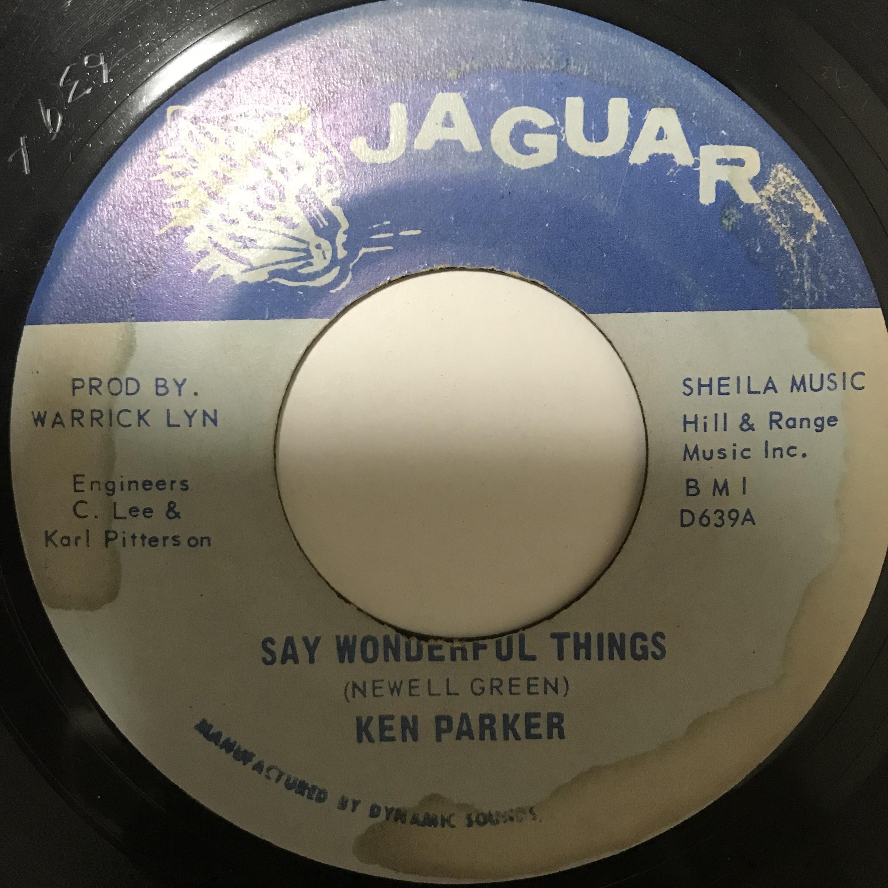 Ken Parker(ケン パーカー) - Say Wonderful Things / It's True【7-10761】