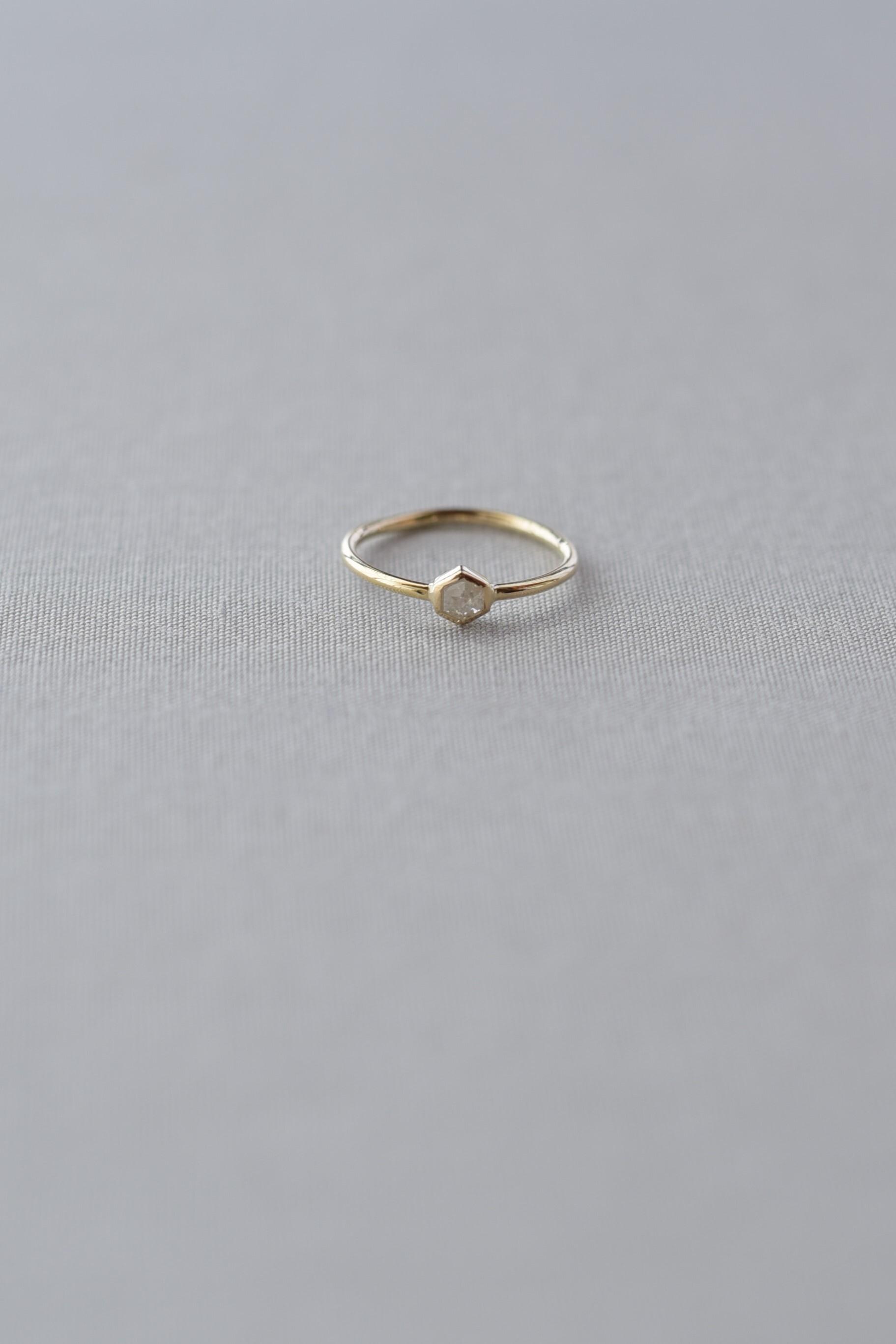 accesories mau R-51-3 六角ダイヤ ring