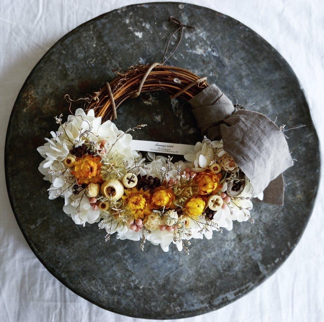 Preserved flowers wreath ギフトなどに