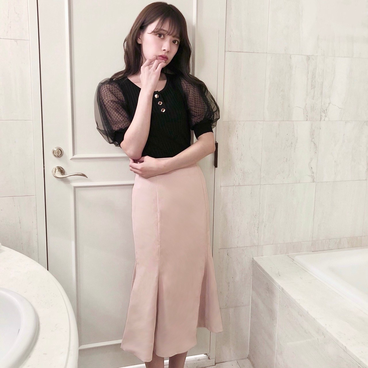 【Fluffy】クラシカルマーメイドスカート
