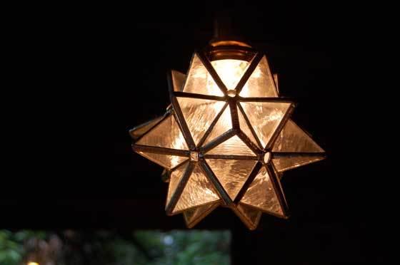 星のランプ(ステンドグラスの吊りランプ)(ペンダントライト) 01010016