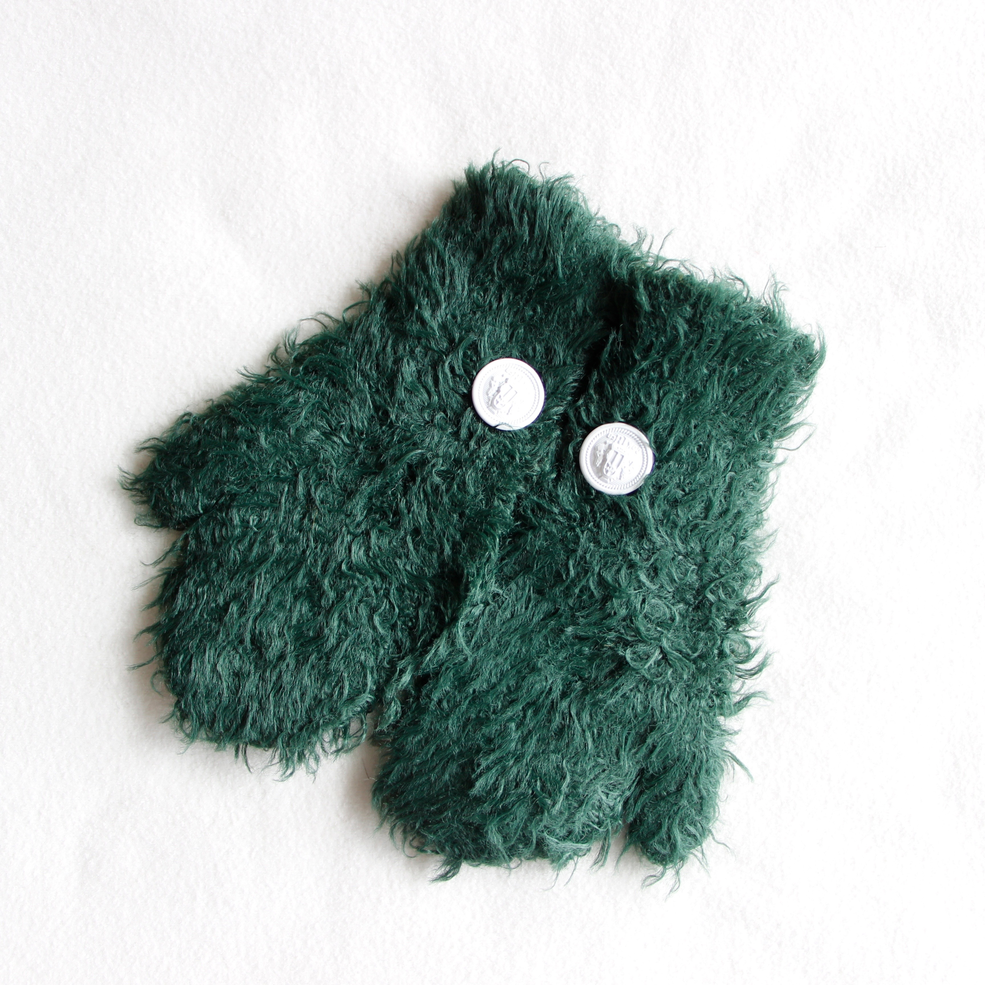 《cokitica 2017AW》moke knit mittens / green / S