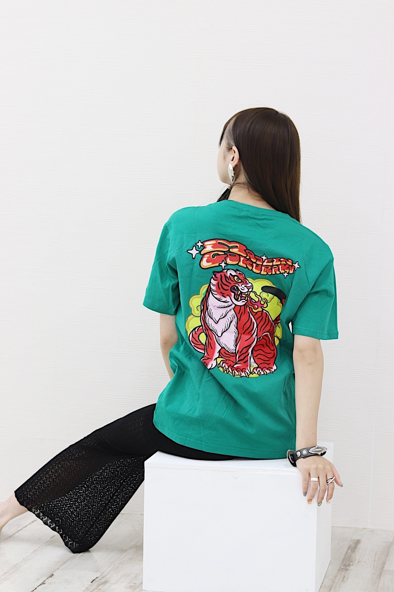 【unisex】MAID in 極楽 T-shirt【Green】