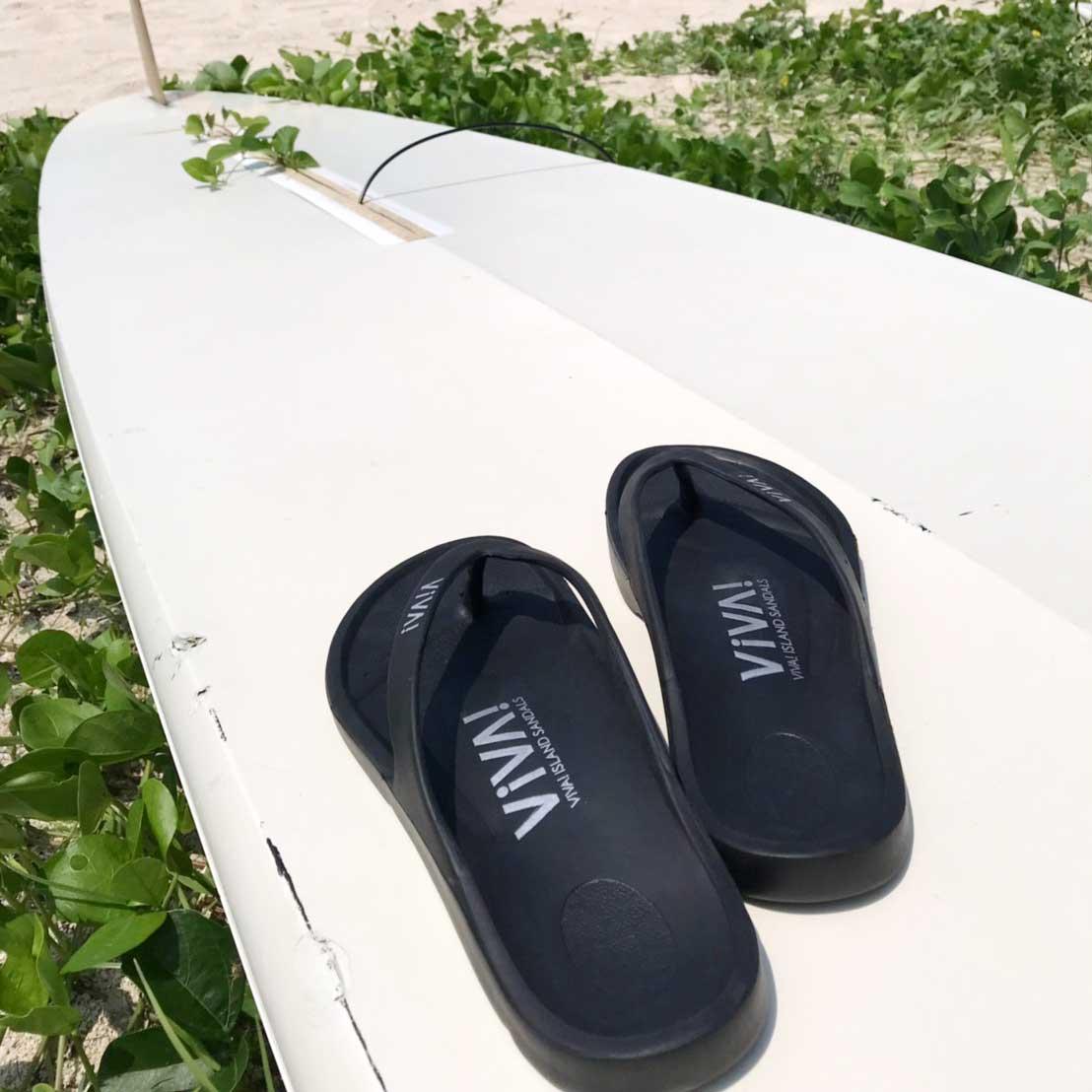 VIVA! ISLAND|ビバアイランド FLIP FLOP ビーチサンダル(ブラック|V-810102_BLK)