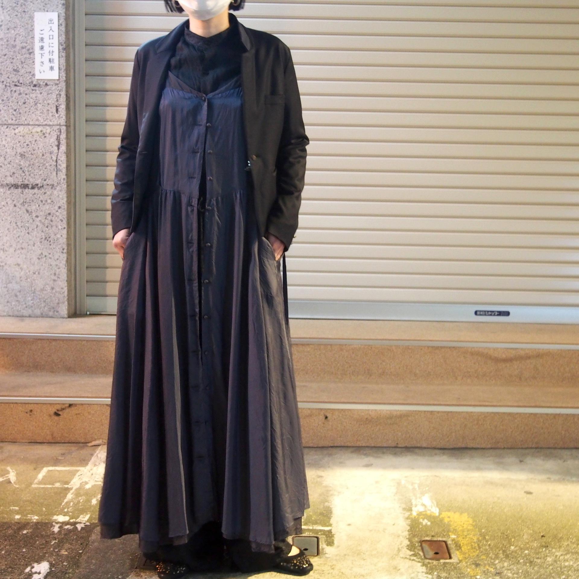 【hippiness】cupro corset dress(black×black)/ 【ヒッピネス】キュプラ コルセット ドレス(ブラック×ブラック)