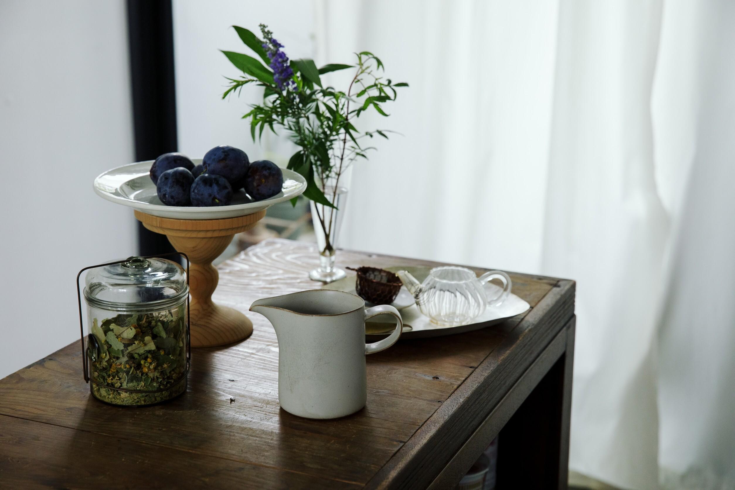 seed × yumiko iihoshi porcelain コラボレーション ピッチャーとキッチンハーブブーケset