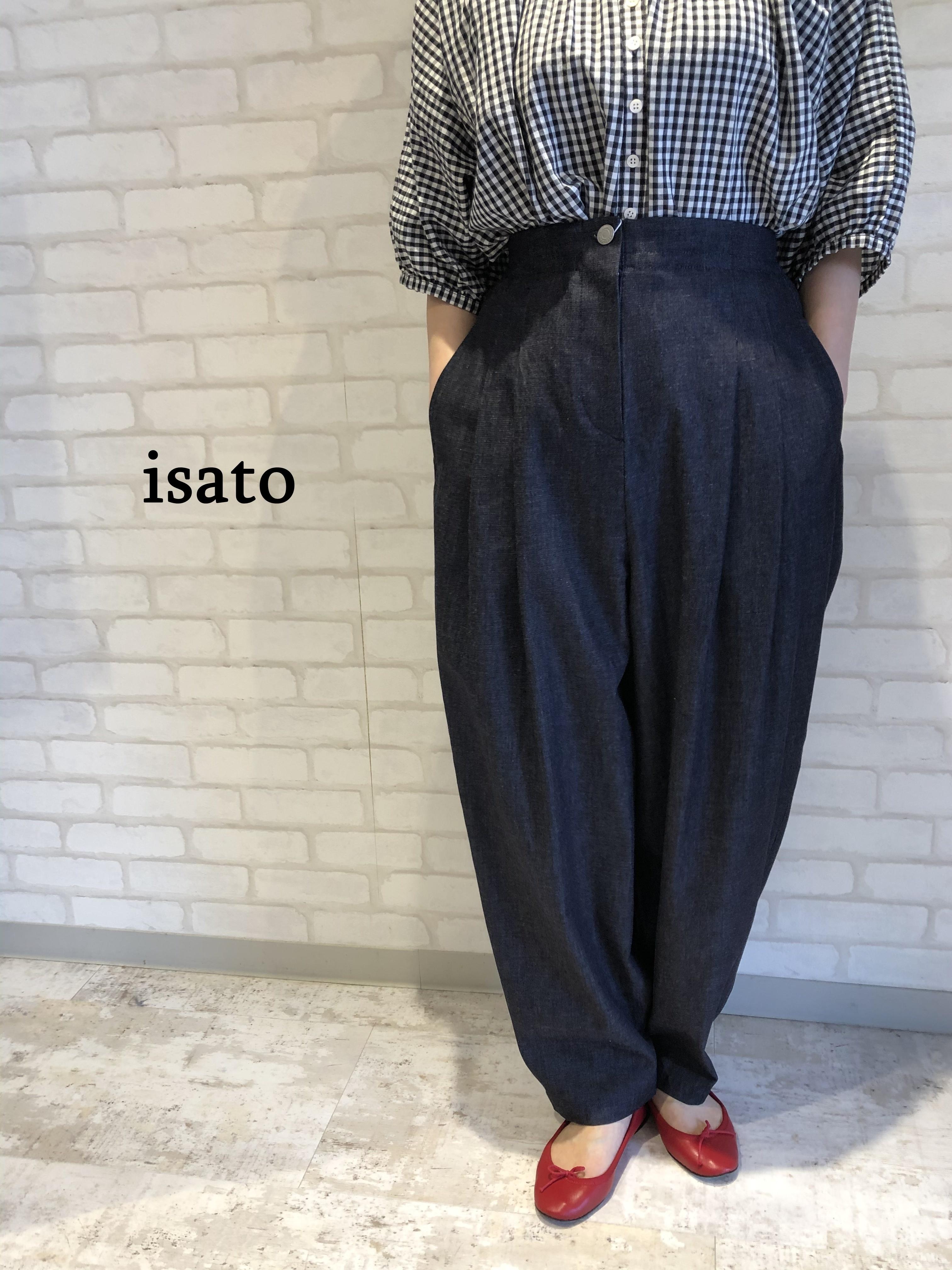 isato/IS-P-042A/ビッグシルエットデニムパンツ