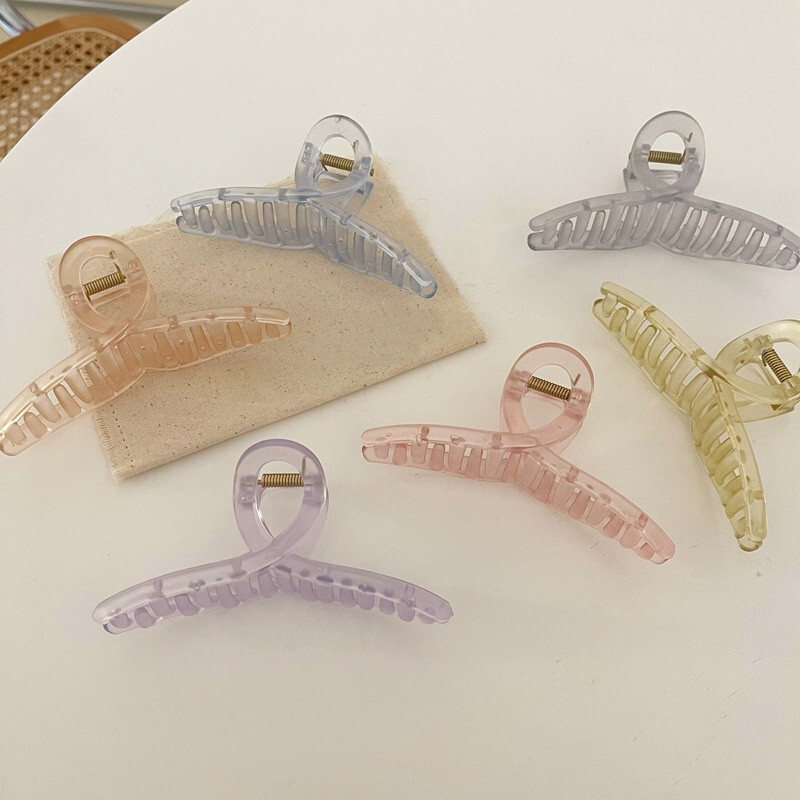 clear pastel hairclip(6color)