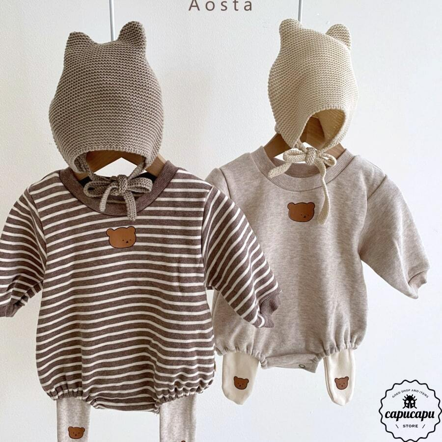 «sold out»«bebe» bear babysuit 2colors くま ベビーボディスーツ