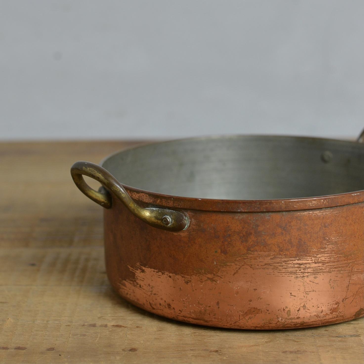 Saucepan / ソースパン【B】〈コッパー・銅・鍋・調理器具・アンティーク・ヴィンテージ〉 112090