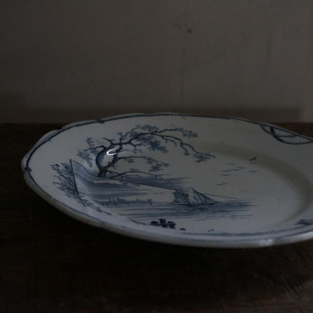 古いオランダの陶器皿