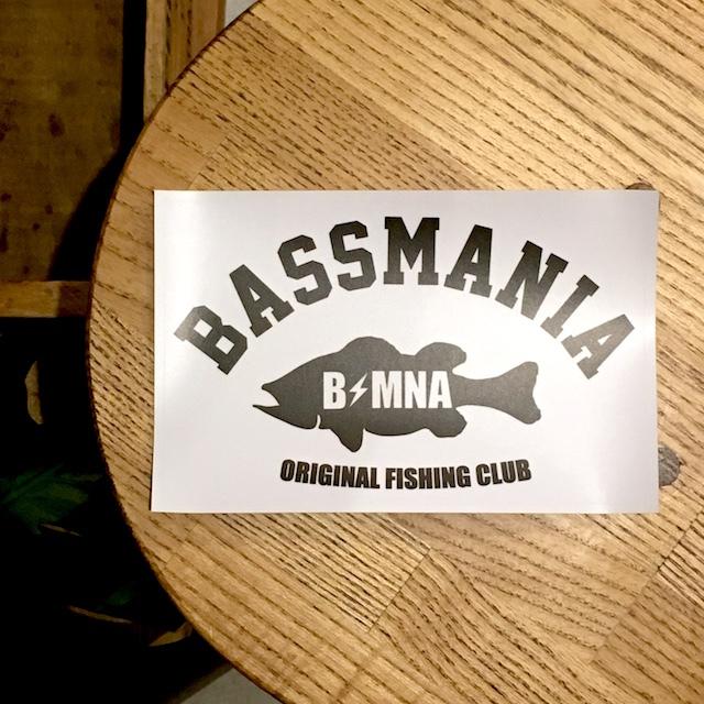 bassmania arch logo sticker