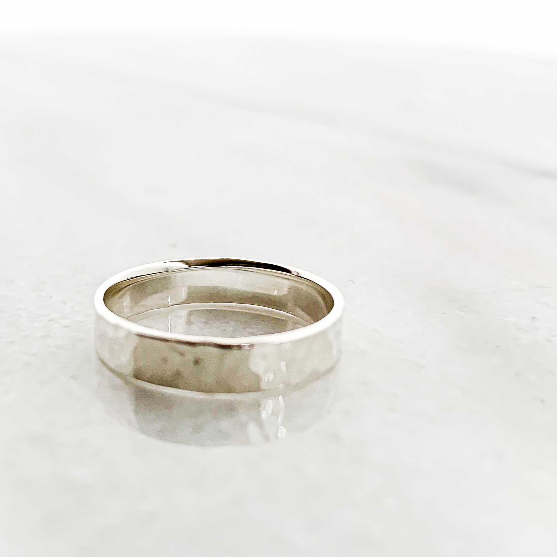 Silver925 Tsuchime wide ring