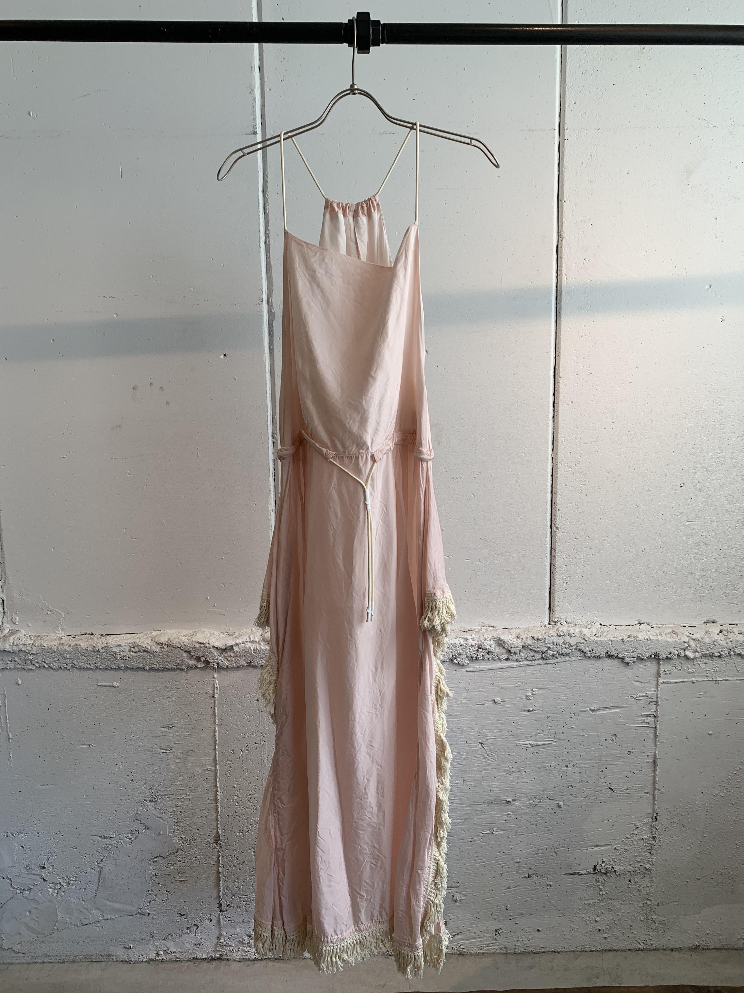 PONTI CUPRA HOLTER NECK DRESS (Pink)
