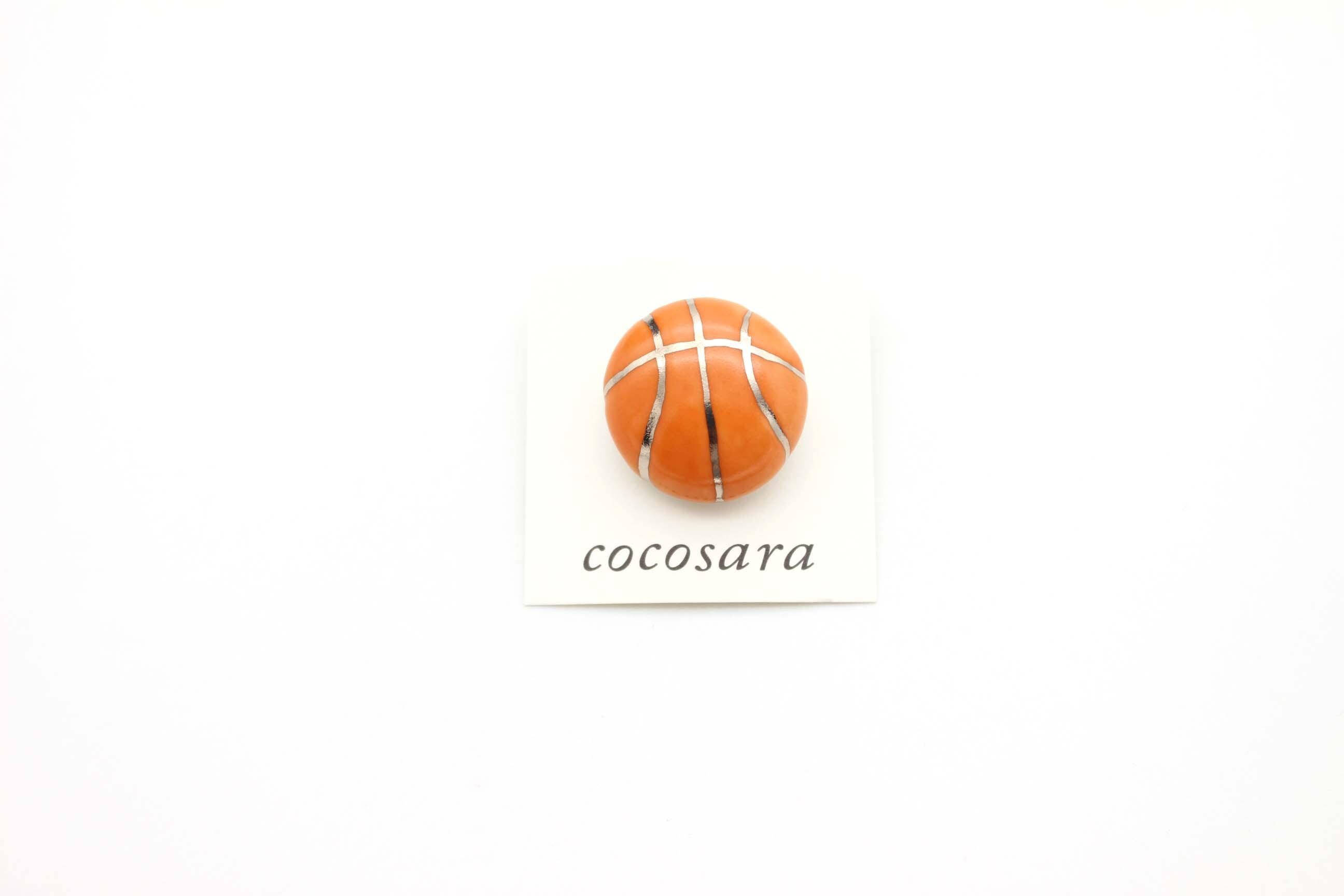 有田焼ブローチ バスケットボール ③