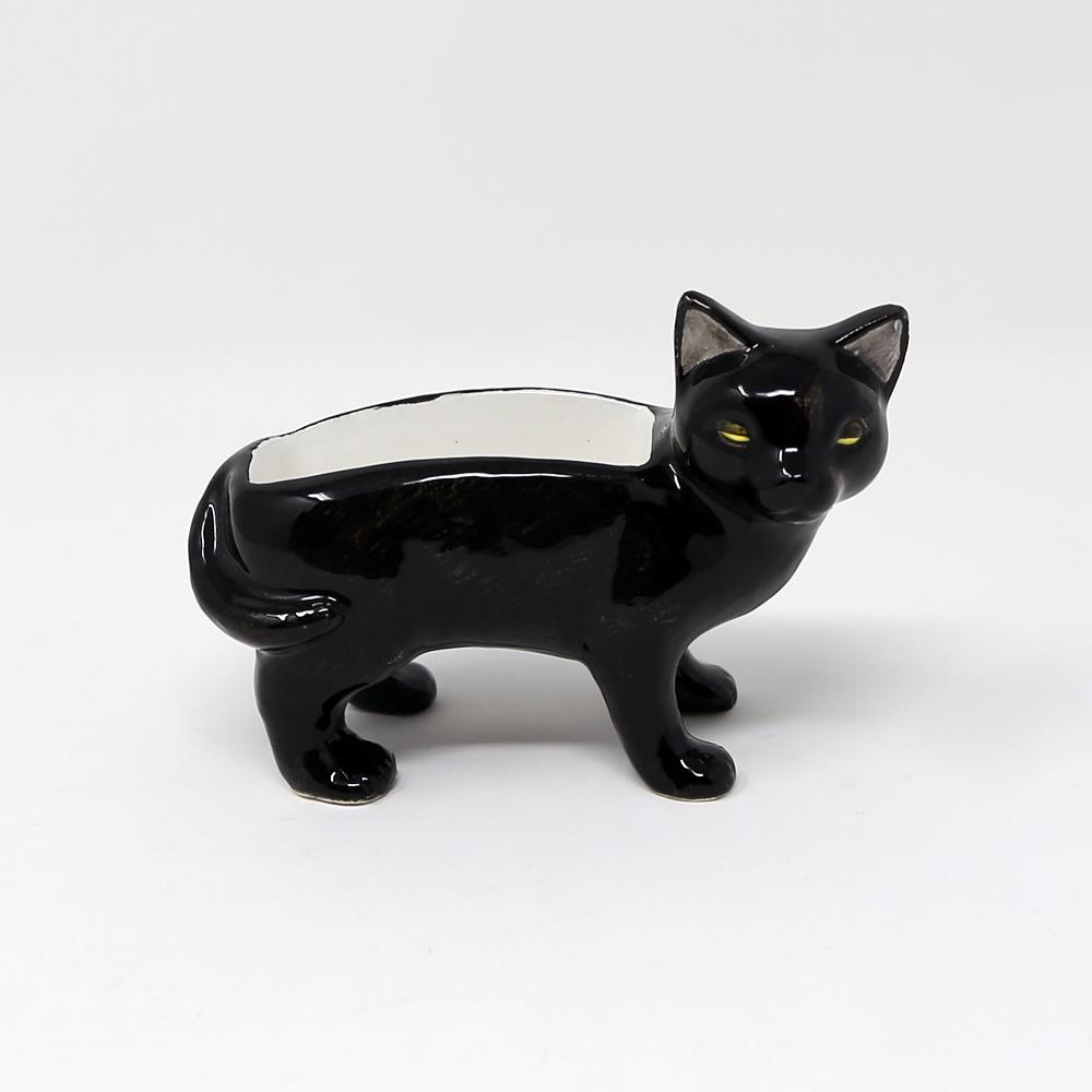 猫ジュエリーホルダー(アニマルジュエリーホルダー)黒猫