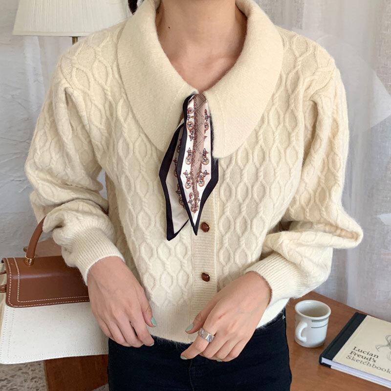 スカーフ付きレトロセーター