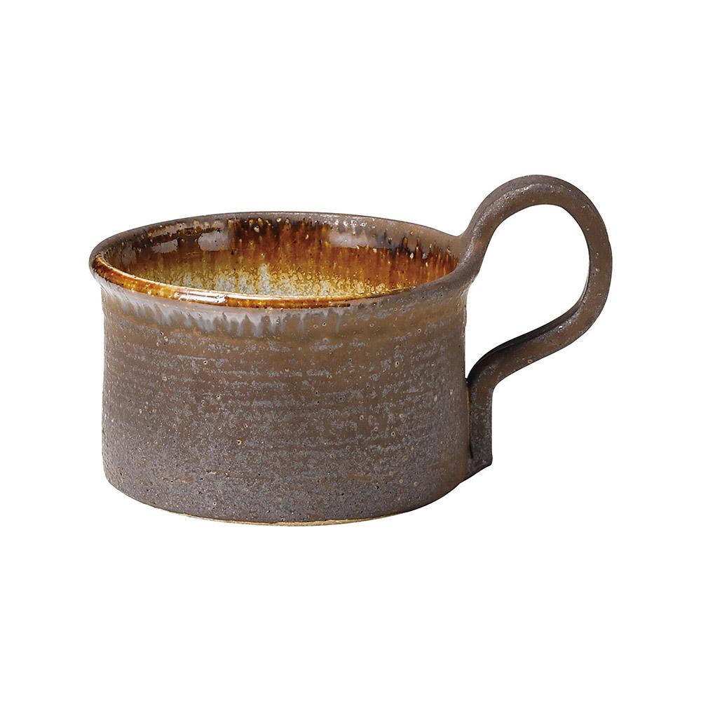 信楽焼 へちもん スープ マグ ブラウンタグ MR-3-3316
