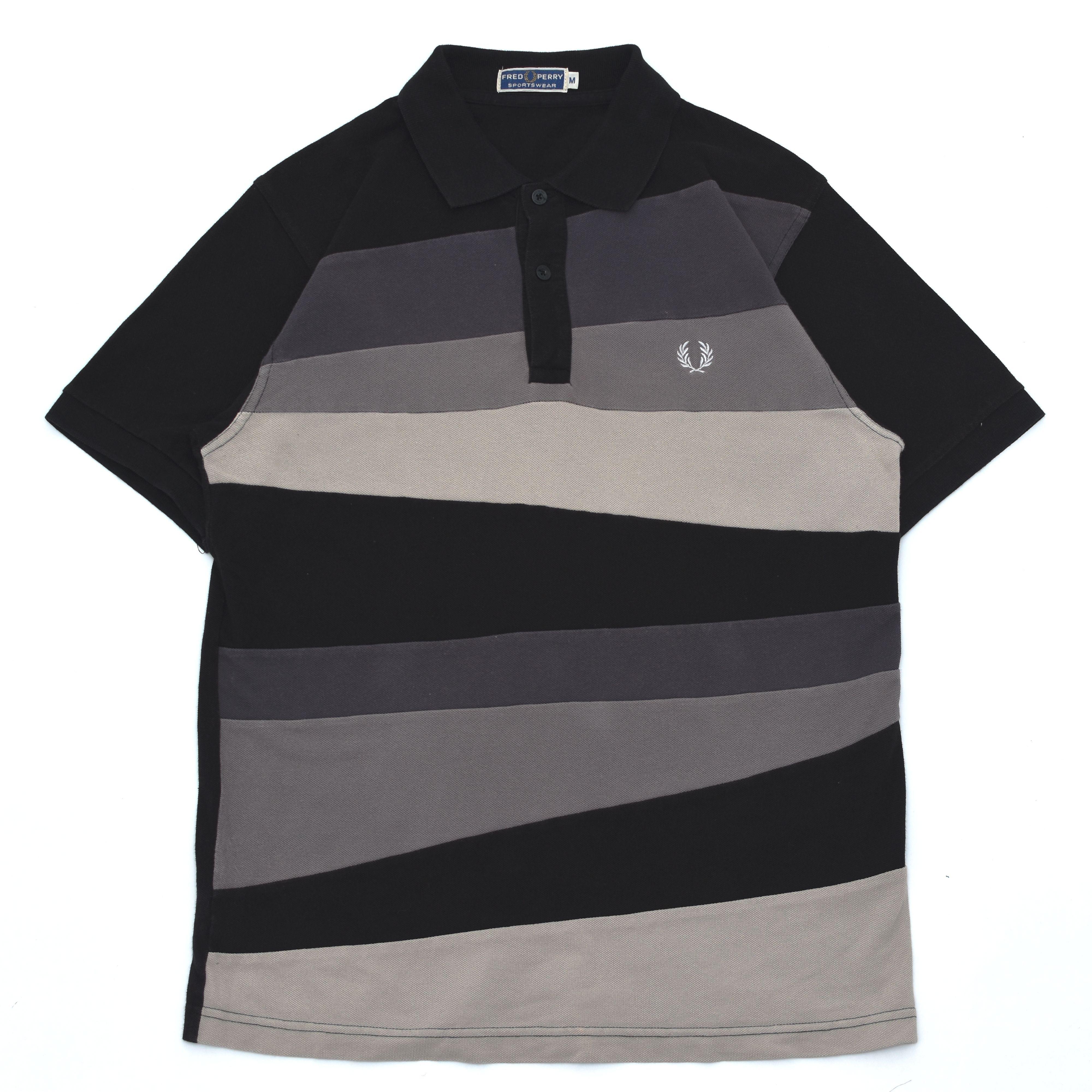 Fred perry swiching pattern polo shirt