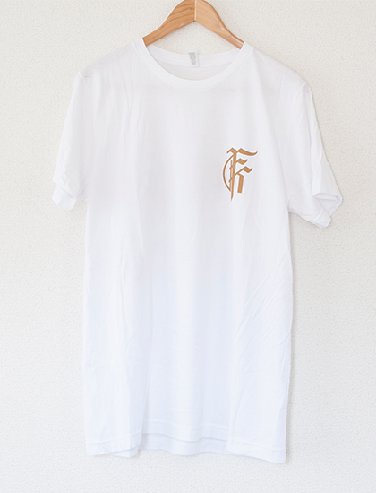 【FIT FOR A KING】Skull T-Shirts (White)