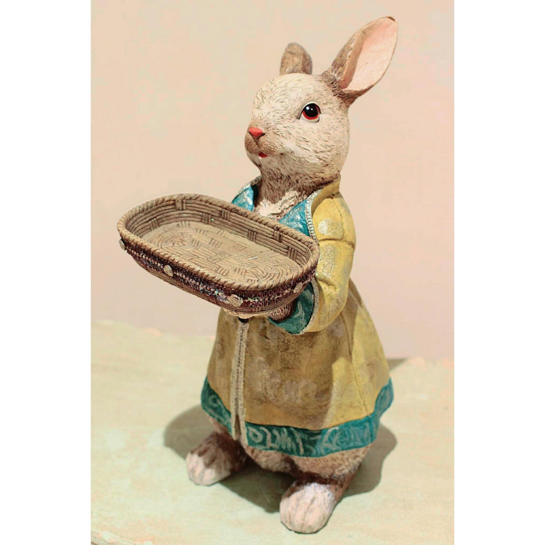 お洋服を着たうさぎのトレイ:浜松雑貨屋 C0pernicus