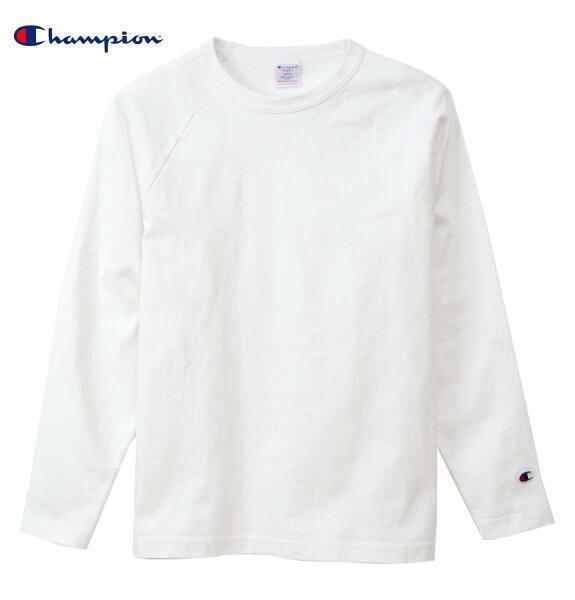CHAMPION チャンピオン ラグラン 長袖 Tシャツ ロンT T1011 ティーテンイレブン 正規販売店 C5-Q014 ホワイト