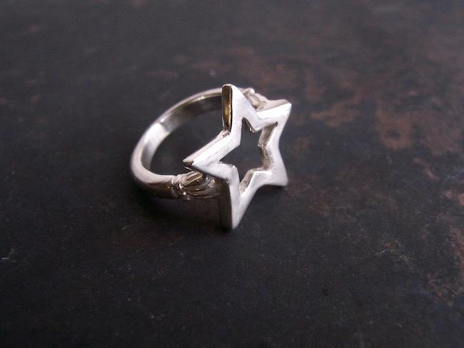 SILVER STAR Pinky Ring/シルバースターのピンキーリング/S(小さめな星)