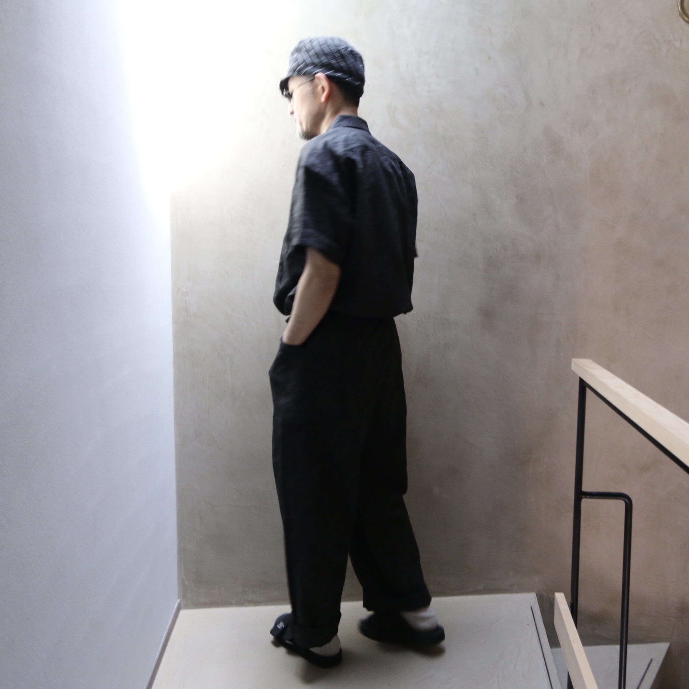ASEEDONCLOUD/アシードンクラウド Sakurashi Jumpsuite Ash dyeing linen 211301