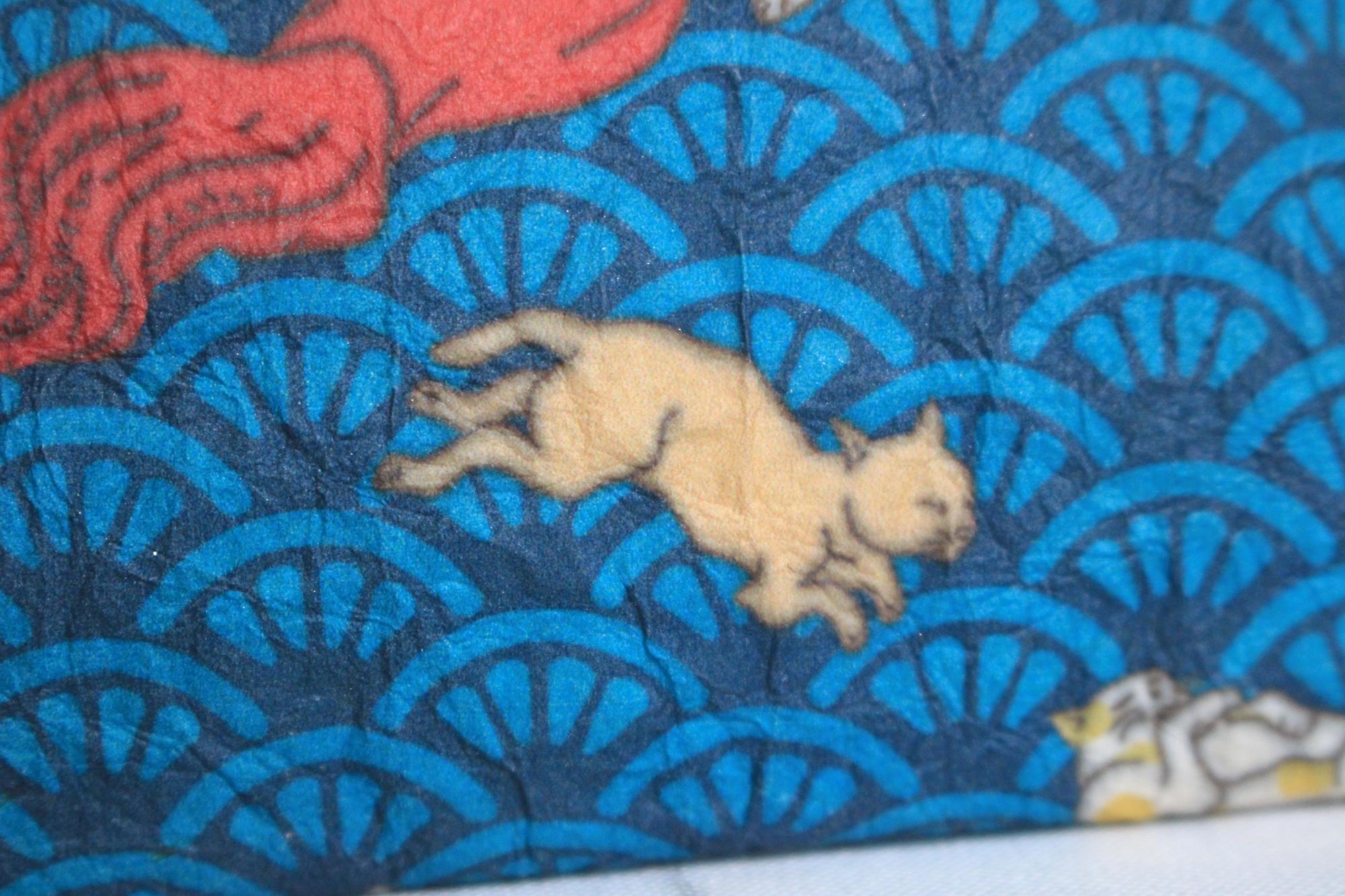 浮世絵猫デザイン和紙がま口ケース