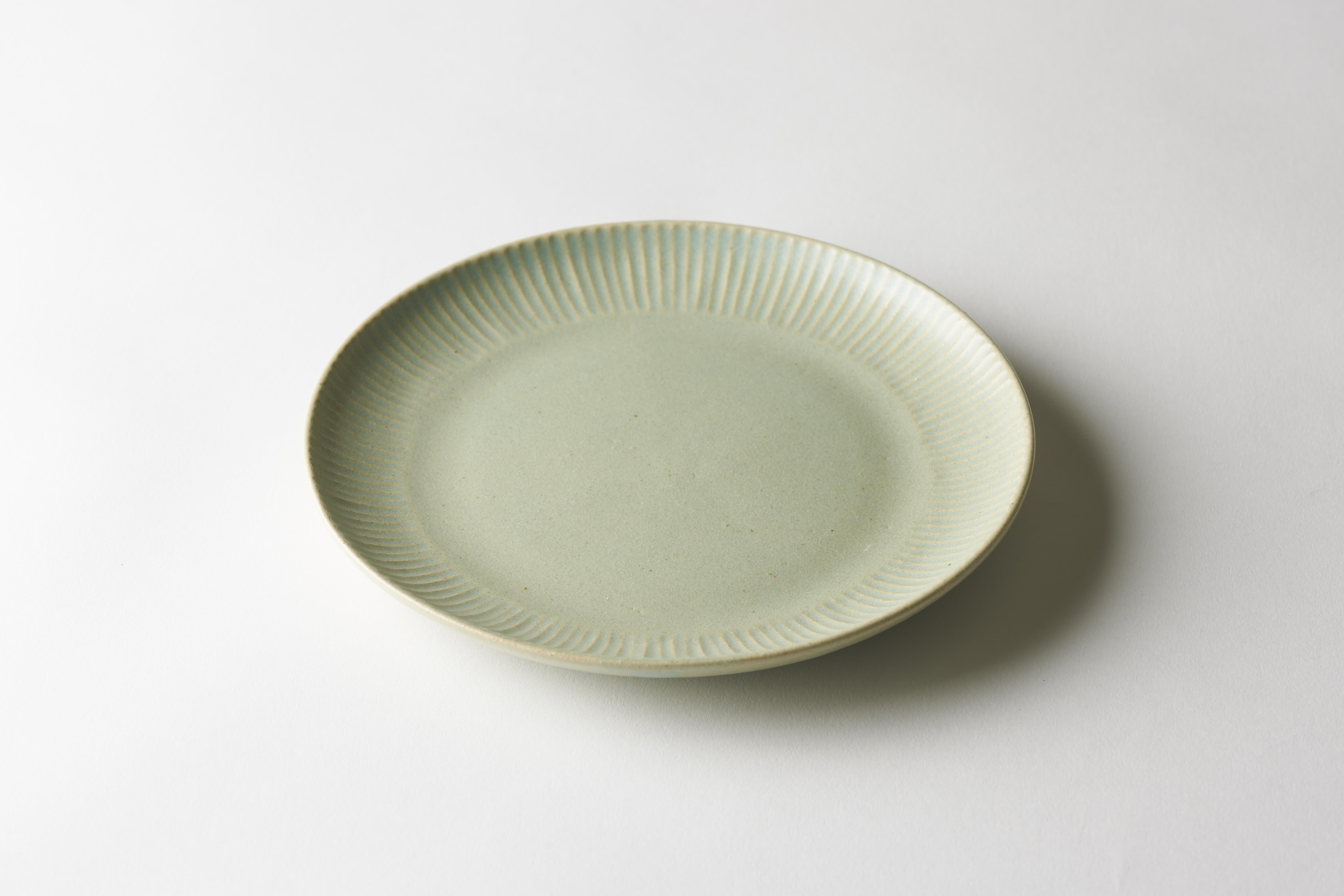 しのぎ7寸皿(グリーン)