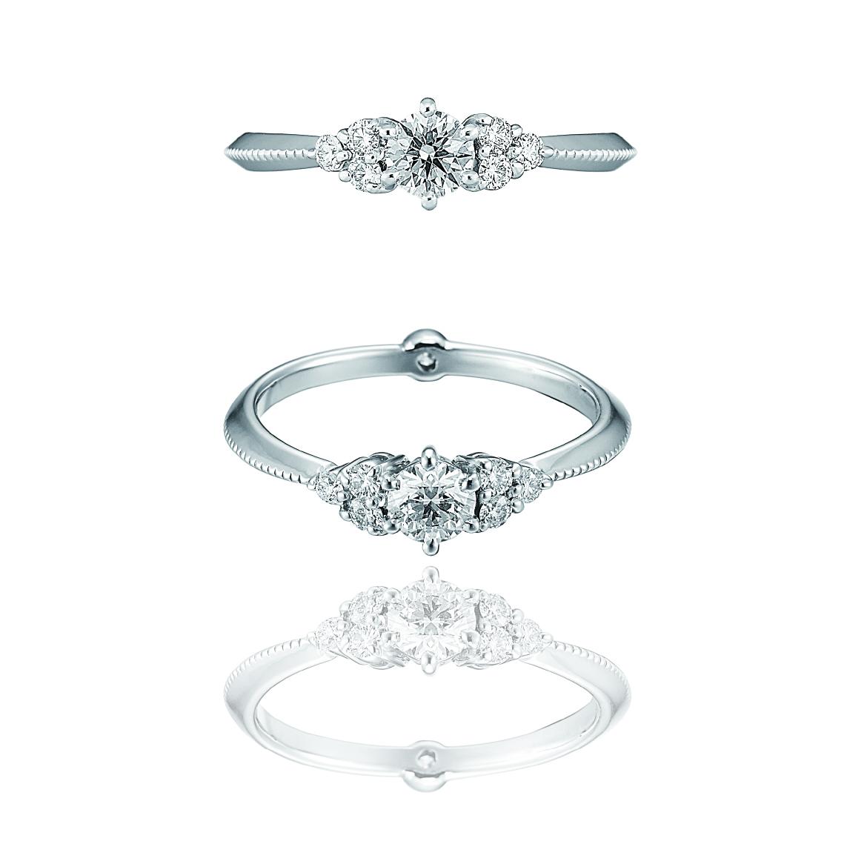 Blooming Diamond Ring / Pt900 3EX H&C
