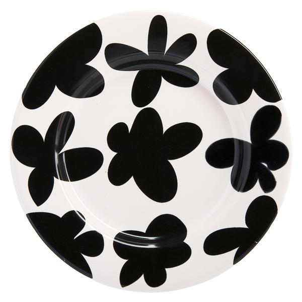 Royal Tichelaar Makkum Patchwork Black Flowers プレート