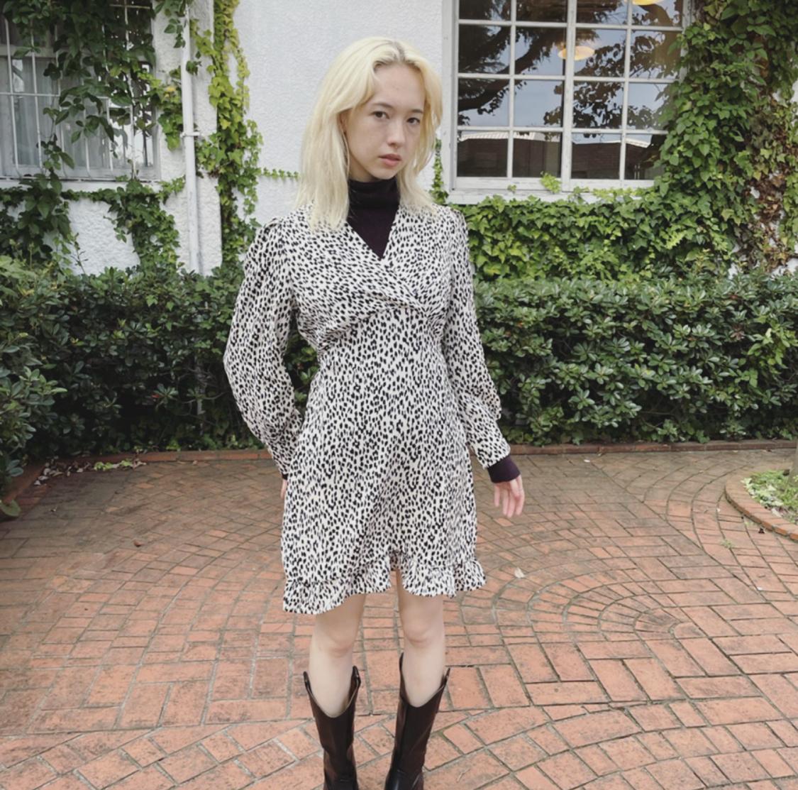 【ASHLEY】leopard one piece