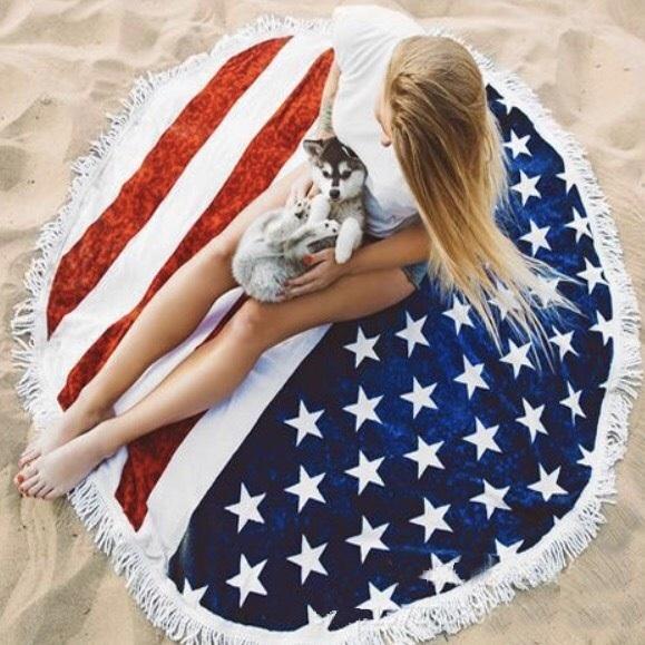 Round Beach Towel American