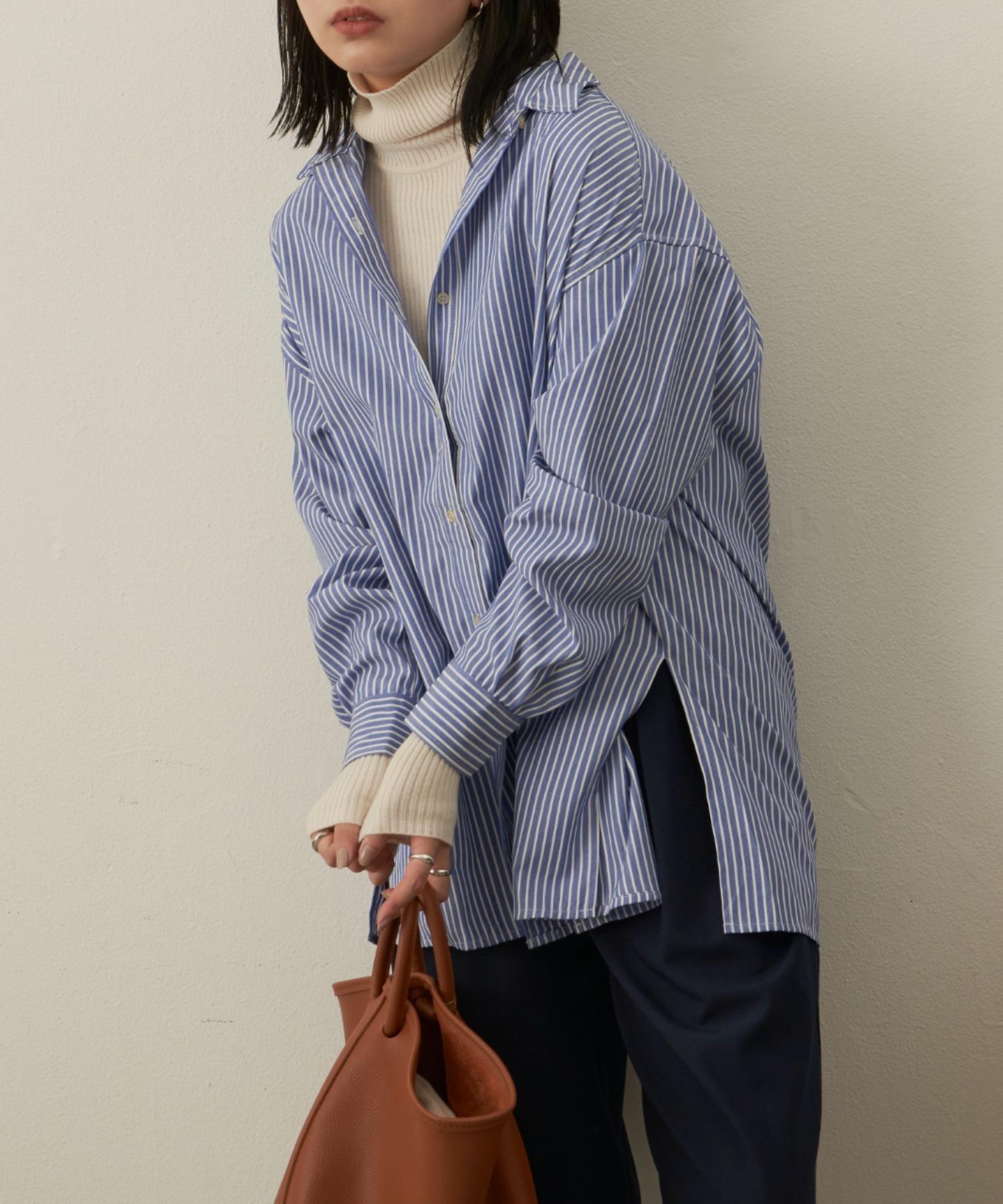 オーバーサイズシャツ/BLU