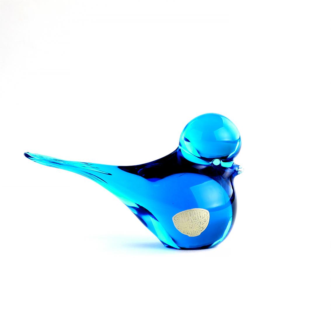 Eneryda Glasbruk エネリーダ・グラスブルック コバルトブルーのガラスの小鳥 北欧ヴィンテージ