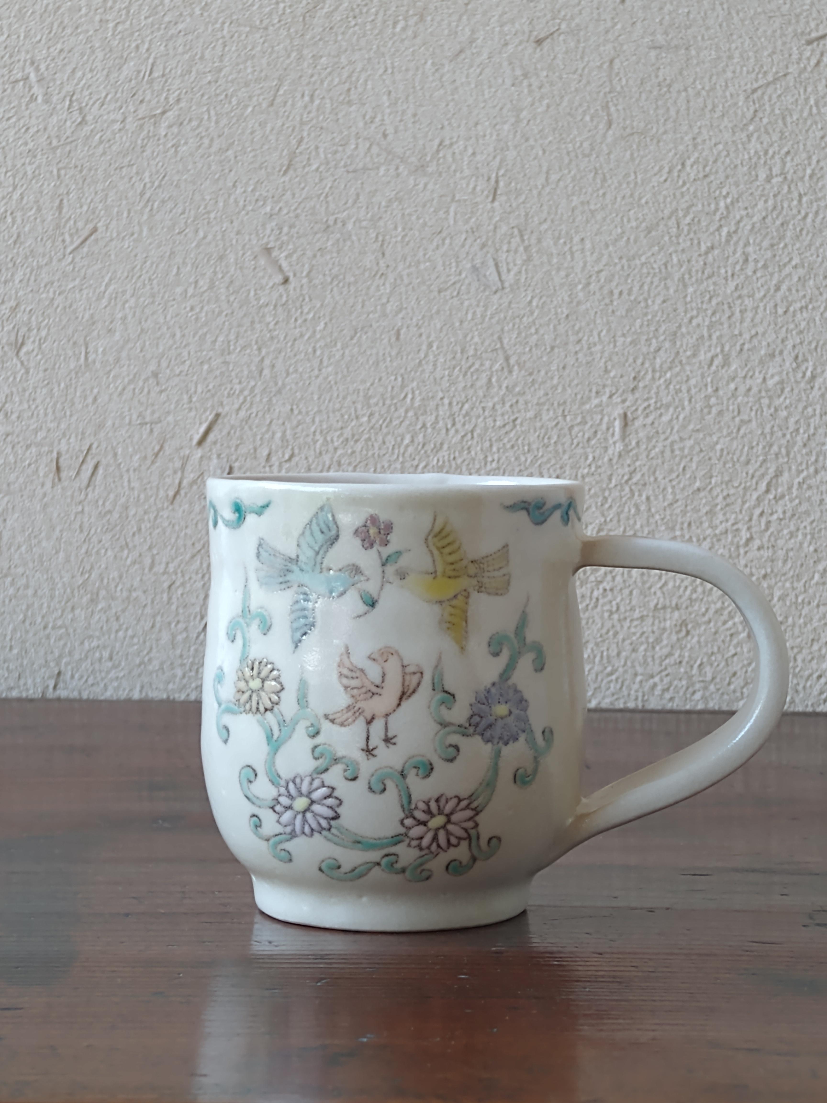 吉祥hanakuidori コーヒーカップ