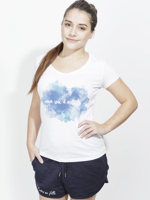 フランス製Tシャツ『SHIRT MA VIE D'ARTISTE BLANC』