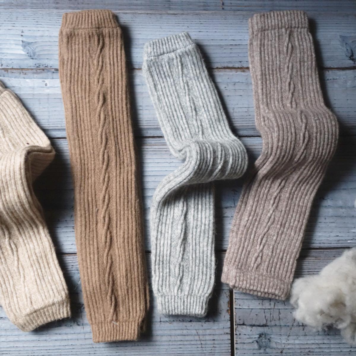 Leg Warmer Long ( Cable Knit )  / モンゴル